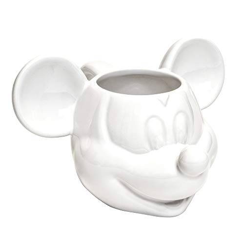 Joy Toy 62124 Mickey Mouse 3d taza de cerámica (13,5 x 12 x 8,5 cm), color blanco