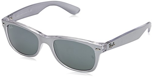 Ray Ban MOD. 2132, Gafas de Sol Unisex, Gris (Top Brushed Silver On Trasp), 52 mm