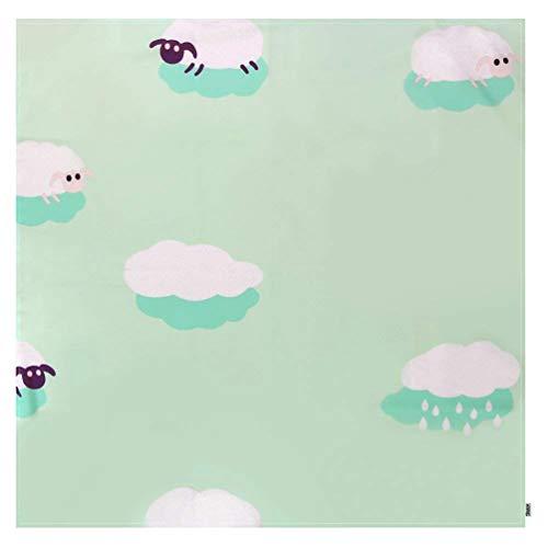 YOUJIAA Tapis Housses pour chaises Hautes Tapis de Sol Nappe pour Enfants Bébé Splash Tapis (Cloud, Carré: 130 * 130cm)