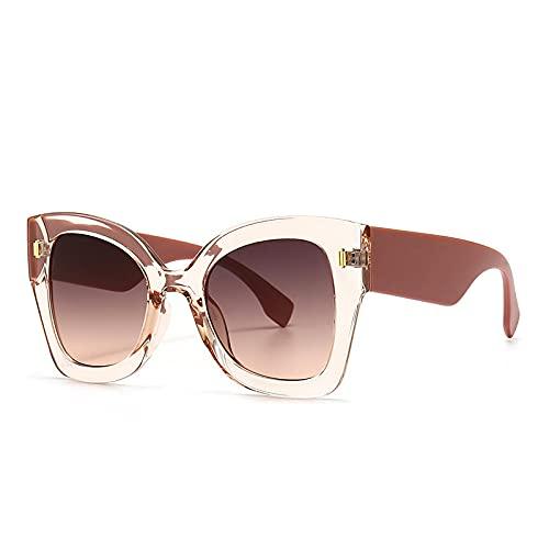 ShZyywrl Gafas De Sol De Moda Unisex Gafas De Sol Vintage con Forma De Ojo De Gato para Mujer, Gafas De Sol Cuadradas De Gran Tamaño para Hombre, Tonos Negros