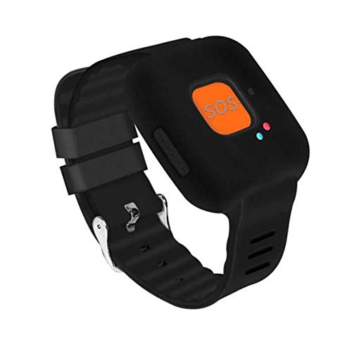 GPS-Tracker-Uhr für Kinder, WiFi Personal Watch mit Anti-Lost, SOS-Alarm, Google Maps, Echtzeit-Tracking für Kinder und Eldly,Schwarz