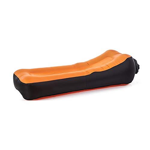 ZFY Faules Sofa Camping Matte Doppelschicht Verdicken Tragbare faul Aufblasbare Luftkissen Aufblasbare Schlafsofa Strand Luftbettmatte (Color : Orange)