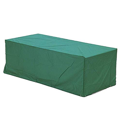 TongN Garden Furniture Dust Cover Rectangular Garden Table Cover Waterproof Protective Cover, Green