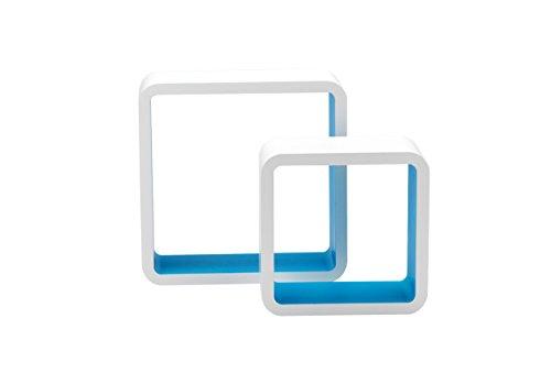 King Home M1105002/A, Blanc/Bleu Clair, 26X10X26H 20X10X20H