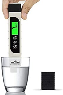 TDS Meter Digital Water Tester, DUMSAMKER Professional 3-in-1 TDS, Temperature and EC Meter with Carrying Case, 0-9999ppm, Ideal ppm Meter for Drinking Water, Aquariums and More
