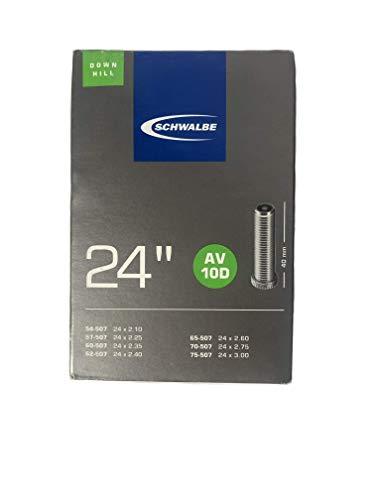 Schwalbe Fahrradschlauch AV10D TR4 Downhill 54/75-507 EK 40 mm, Schwarz, 24 Zoll