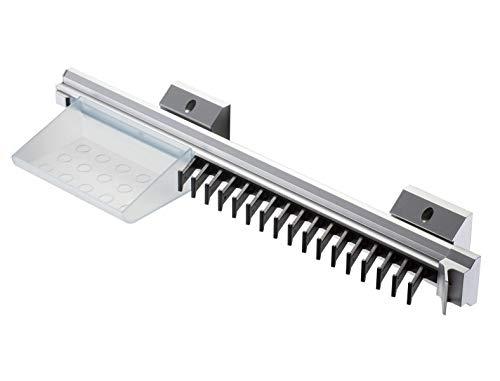 Wood Technology Sliding Tie Rack and Tie Holder Organizer with Sleek, Convenient Design and Storage Tray