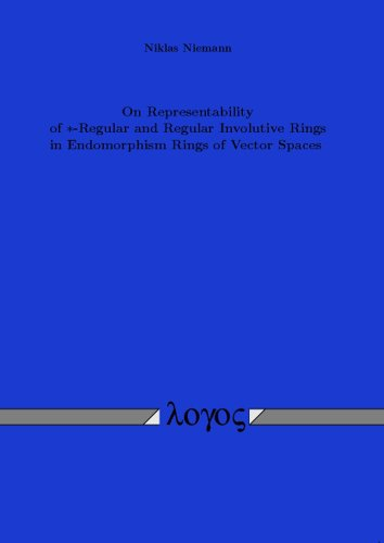 On Representability of *-Regular and Regular Involutive Rings in Endomorphism Rings of Vector Spaces