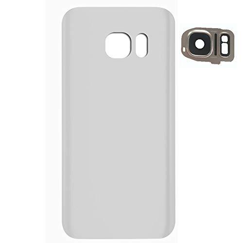 UU FIX Tapa de Batería para Samsung Galaxy S7 Edge G9350(Blanco) de la Reemplazo Parte Trasera Battery Cover con Kit Reparación.