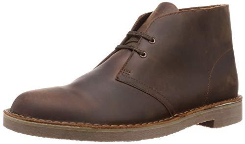 Clarks Herren Desert Boot Bushacre 3 Chukka-Stiefel, Dark Brown Lea, 42.5 EU