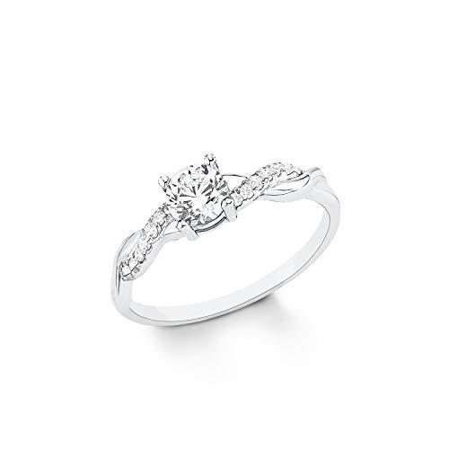 s.Oliver Damen Ring Verlobungsring 925 Sterling Silber Zirkonia weiß