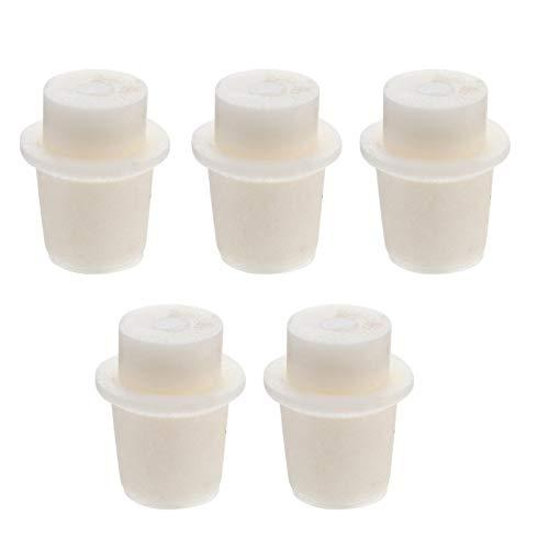 Scicalife 5 Piezas Tapón de Laboratorio de Silicona Sólido de Alta Temperatura en Forma de T Tapón de Silicona Perforado Sellado Tapón de Laboratorio Tapón Tapones de Corcho para