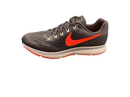 Nike Men's Air Zoom Pegasus 34 (Thunder Grey/Bright Crimson, Size 7)