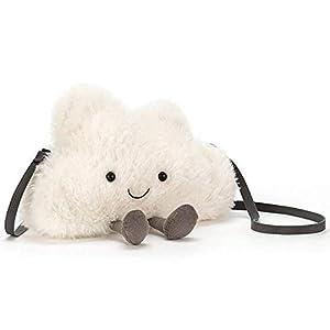 ジェリーキャット Jellycat Amuseable Bag ぬいぐるみ バッグ ポシェット (クラウド Cloud H20 W23) [並行輸入品]
