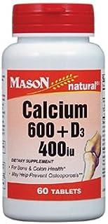 MASON NATURAL, Super Calcium 600 Plus D3 400 Tablets - 200 Ea
