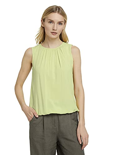 TOM TAILOR Damen 1025797 Feminine Bluse, 26777-Celery Ice, 46