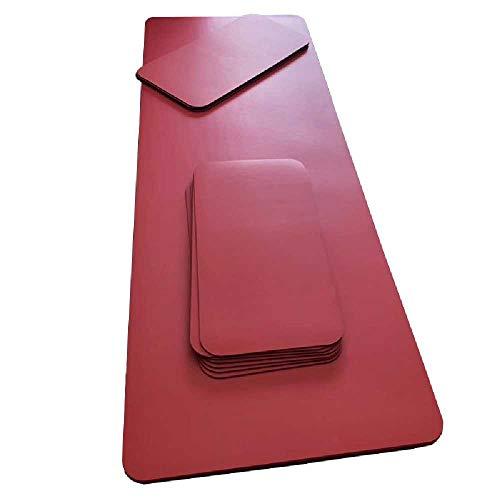 ZHIMENG Anti-slip Slijtage Yoga Mat Natuurlijke Rubber Yoga Mat 1830x680x5 mm/ Rode