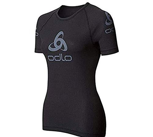 Odlo Neu Shirt S/S Crew Neck Logo Line Gr. XXL Funktionsunterwaesche Damen schwarz …
