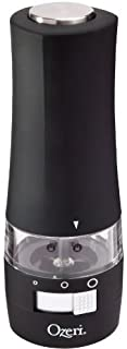 Ozeri Savore Soft Touch Electric Pepper Mill and Grinder
