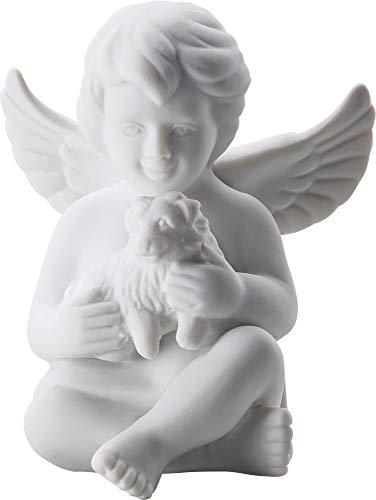 Rosenthal - Engel klein - Weiss matt - Engel mit Hund - Porzellan - 8 cm