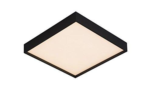Lucide SKY-LED - Plafonnier - LED Dim. - 1x28W 3000K - IP21 - Noir