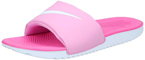 Nike Boys' Kawa Slide (GS/PS) Sandal, Psychic Pink/White-Laser Fuchsia, 3Y Regular US Little Kid