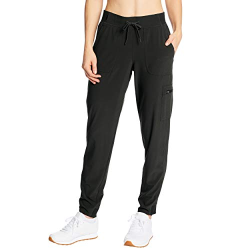 C9 Champion womens Woven Training Track Pants, Jet Black, Large US