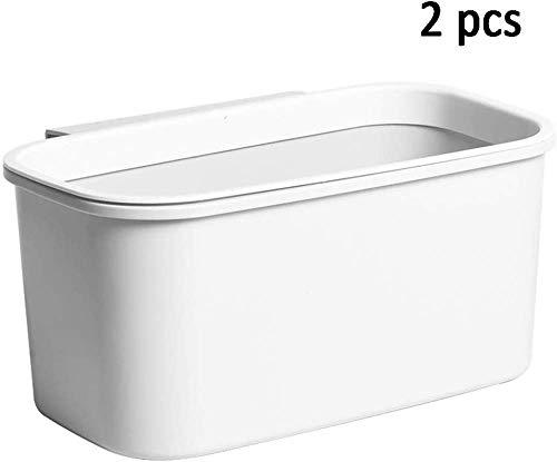 Bandeja de goteo de 2 piezas Para desechos de cocina Contenedor de desechos Recolector de desechos para colgar 3 L, plástico, antracita, blanco
