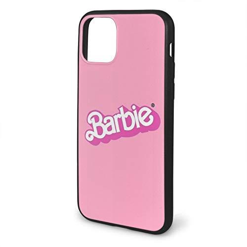 Fashion888 Bar-bie Compatible para iPhone 11 12 Pro MAX XR XS MAX 6/7/8 Plus SE 2020 Funda para teléfono Negra Funda para teléfono móvil