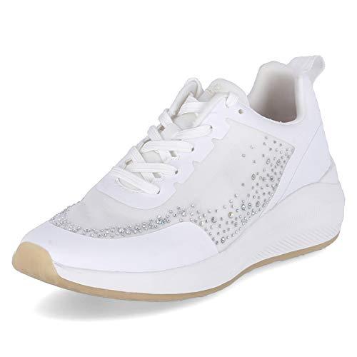 Tamaris Fashletics Lace UP 1-23730-26 - Zapatillas de deporte para mujer, color blanco, color Blanco, talla 37 EU