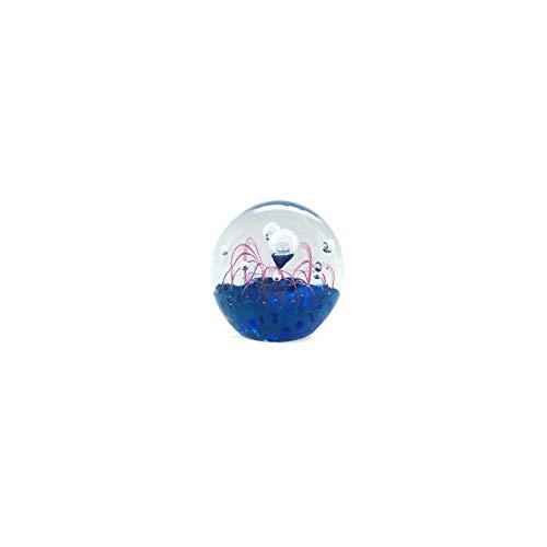 Art Deco Home - Presse-Papier Bleu Cristal 6 cm - 14301SG