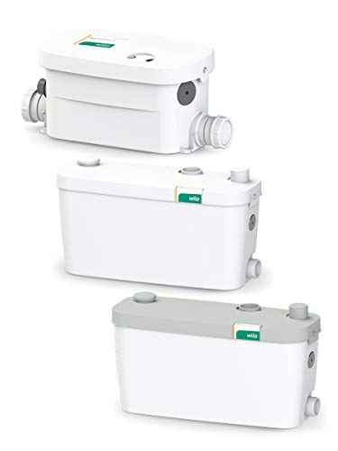 Wilo-HiDrainlift 3-35, kompakte Abwasser-Hebeanlage für Schmutzwasser ohne Fäkalien zur Entwässerung von Duschen, Waschmaschinen, Spülmaschine und Waschbecken, 3 Anschlüsse, 5500l/h, 0, 7 bar, 400W