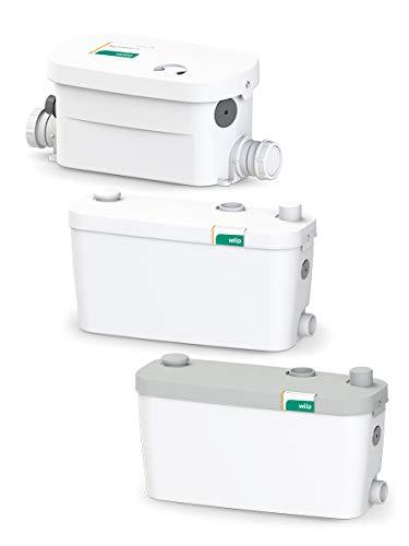 Wilo-HiDrainlift 3-37, kompakte Abwasser-Hebeanlage für Schmutzwasser ohne Fäkalien zur Entwässerung von Duschen, Waschmaschinen, Spülmaschine und Waschbecken, 3 Anschlüsse, 6100l/h, 0, 8 bar, 400W