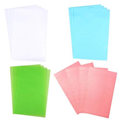 Tapetes para refrigerador, 4 juegos de almohadillas antideslizantes para refrigerador, multifuncional, fácil de limpiar, tapete para cajón, almohadilla para refrigerador, sábana para armario, sábana