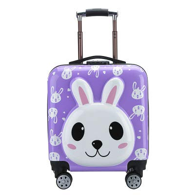 Children's Lever Box Wand Lever Suitcase Suitcase A The Rabbit is Purple