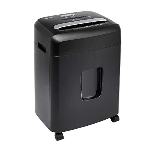 Amazon Basics - Trituradora de microcorte para hasta 12 hojas de papel, tarjetas de crédito y CD, para uso personal y profesional