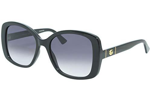 Gucci Gafas de Sol GG0762S Black/Grey Shaded 56/18/145 mujer