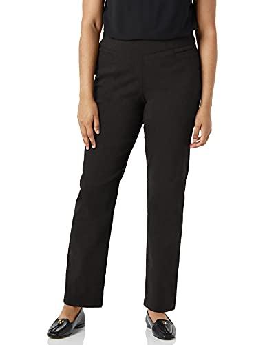 Briggs New York Women's Super Stretch Millennium Welt Pocket Pull on Career Pant, Black, 14