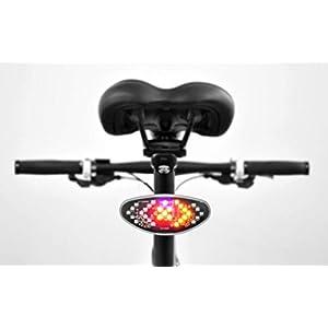 AWE - Luz Trasera para Bicicleta (inalámbrico, Mando a Distancia, 12 LED)