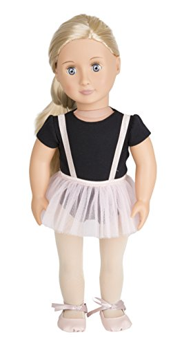 "Our Generation Doll Violet Anna 18"" Regular Ballerina Fashion Doll- for Age 3 & Up -  Branford Ltd., BD31076C1Z"