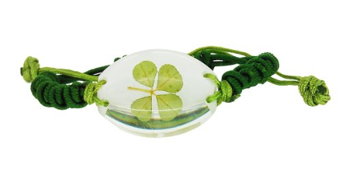 Luck Trader Keltische Echt Vierblättrige Kleeblatt Unisex Armband mit Geschenk-Box und Garantie