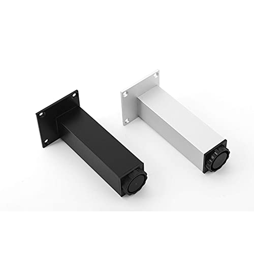 INSTO 4Pcs Muebles Pies Ajustables Muebles Patas Gabinete de Tv Sofá Soporte de Mesa,Plata,30Centimetros