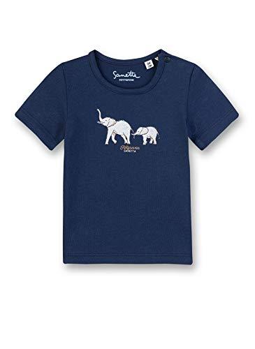 Sanetta Fiftyseven Shirt Manches Longues, Bleu (5993), 80 cm Bébé Fille