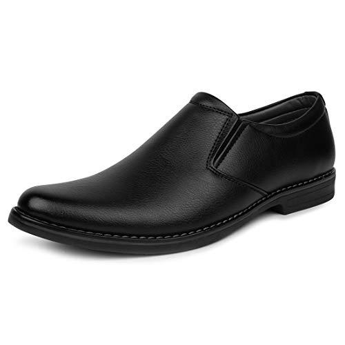 Escaro Men's Black Formal Shoes -6 UK