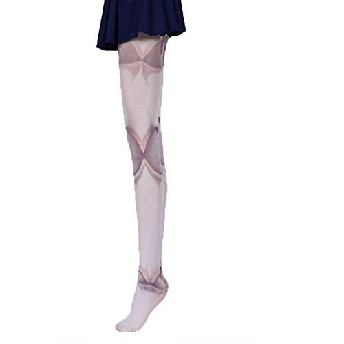 MoonyLI Strumpfhosen für Frauen, Bedruckte Tattoo Herbst und Winter Socken