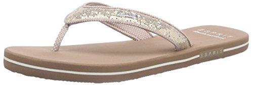 ESPRIT Damen Glitter Thongs Zehentrenner, Beige (295 Cream beige), 38