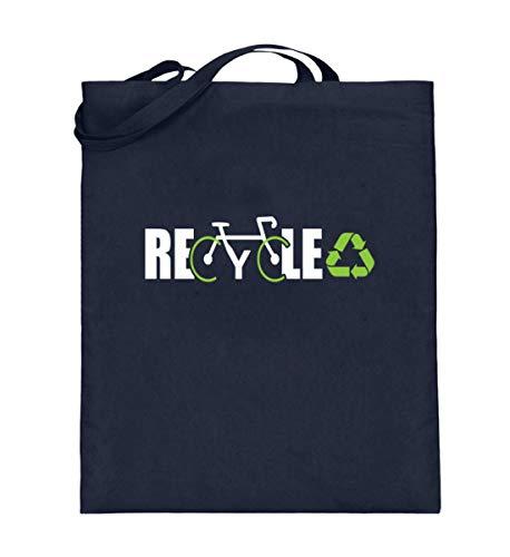 Generisch Bolsa de yute para bicicleta reciclada, protección climática, respetuosa con el medio ambiente, color Azul, talla 38cm-42cm