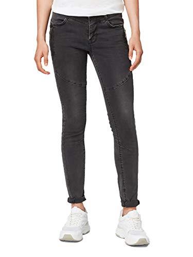 TOM TAILOR DENIM Damen Jeans Jona - Extra Skinny Fit - Schwarz - Black Denim, Größe:W 32 L 30, Farbauswahl:Black Denim (10240)