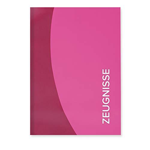 ROTH Zeugnismappe Duo A4 Rosa, mit 12 Klarsichthüllen Dokumentenmappe