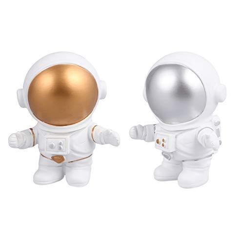VALICLUD 2 Piezas de Resina Astronauta Figuras de Juguete Estatuilla Espacio Exterior Astronauta Juego de Simulación Juguetes Regalos para Fiesta de Cumpleaños Niños Niños